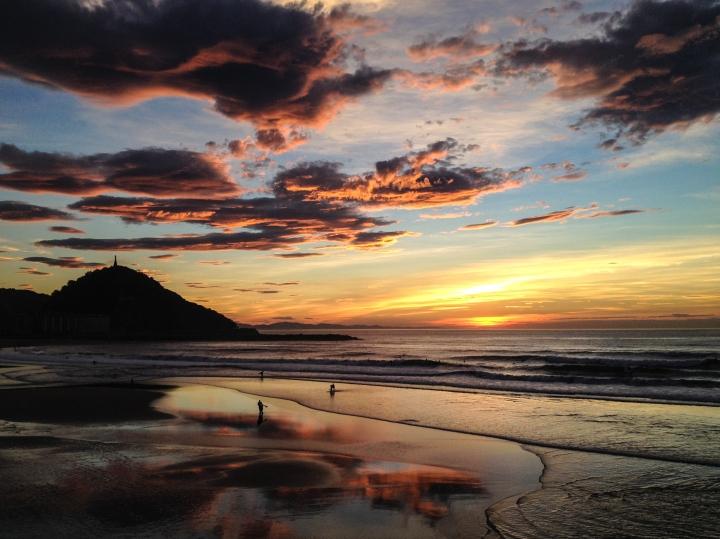 24. san sebastian sunset zurriola