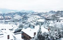 Muy de vez en cuando, nieva en la ciudad